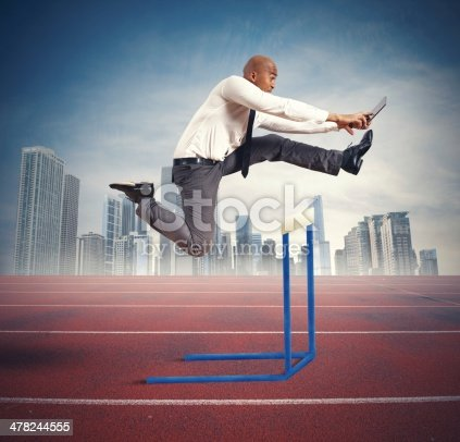 istock Difficulty of a businessman 478244555