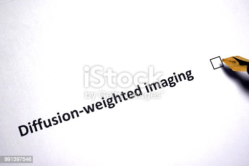 Diffusion-weighted magnetic resonance imaging - medical diagnostic procedure referral