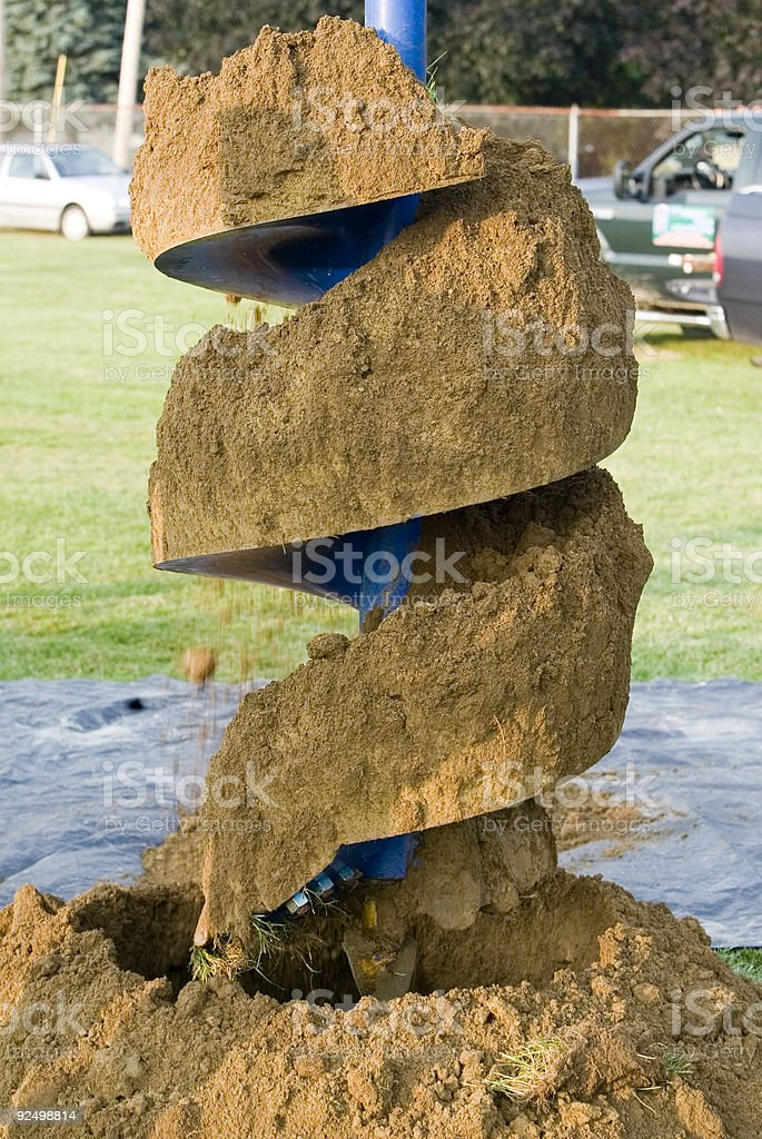 Dig a big hole stock photo