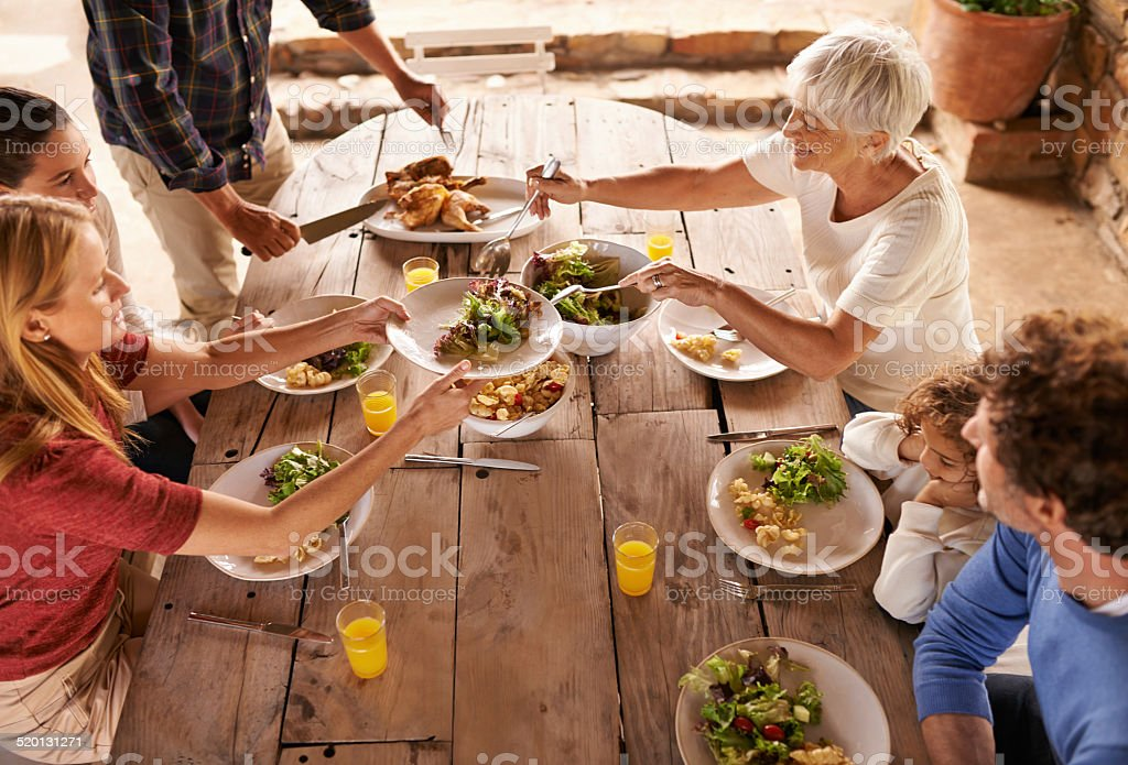 Dig in! stock photo