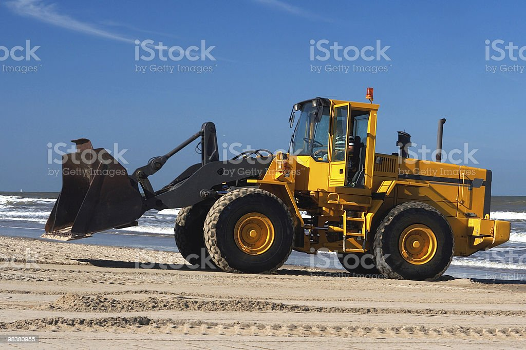 Digger at work royalty-free stock photo