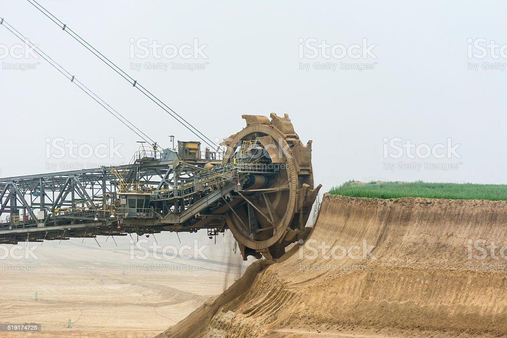 Digger close up dig wheel stock photo
