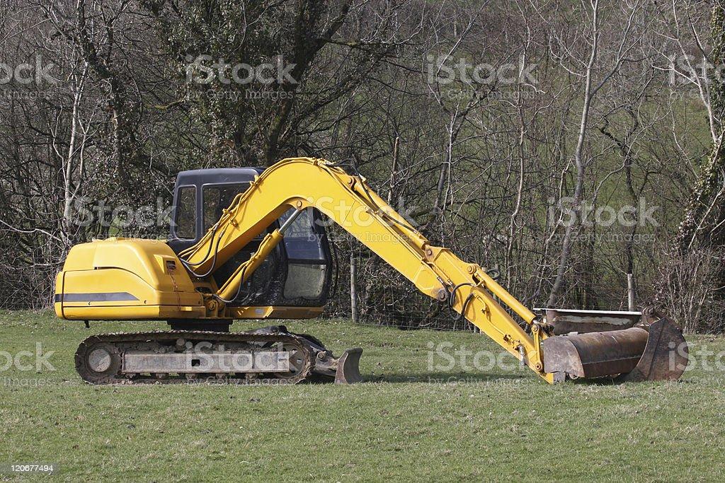 Digger excavator royalty-free stock photo