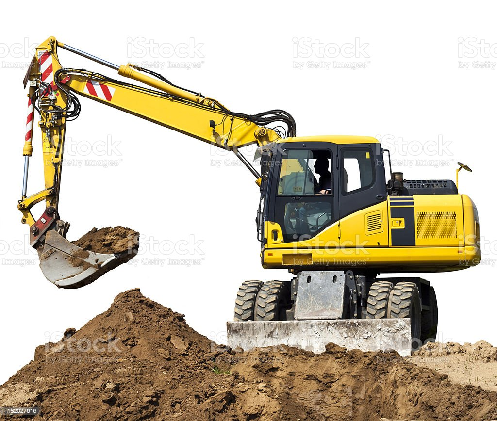 Digger Isolated On White stock photo