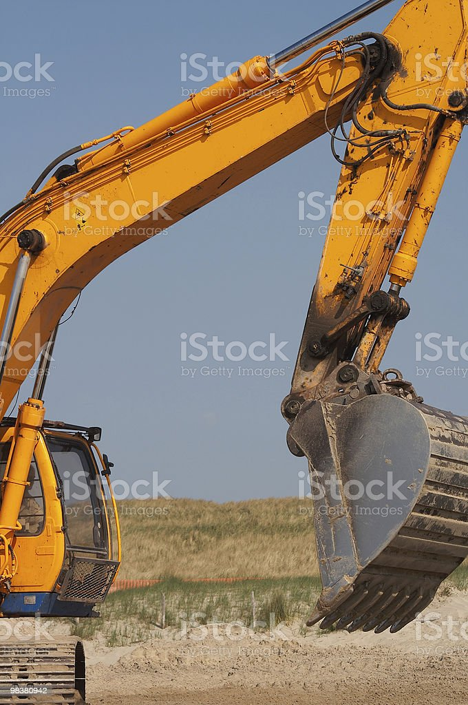 Digger portrait royalty-free stock photo