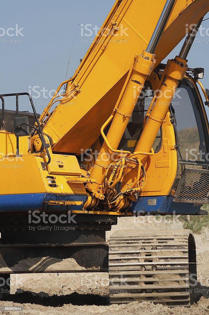 Digger tracks royalty-free stock photo