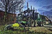 Digger Truck at Dusk