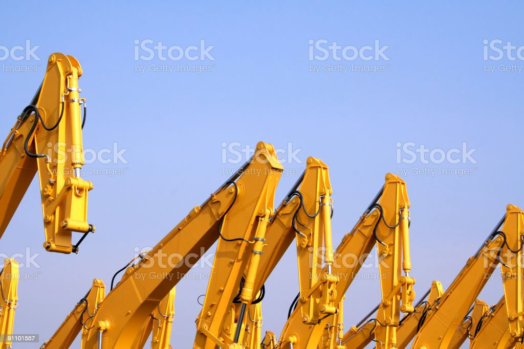 Diggers stock photo