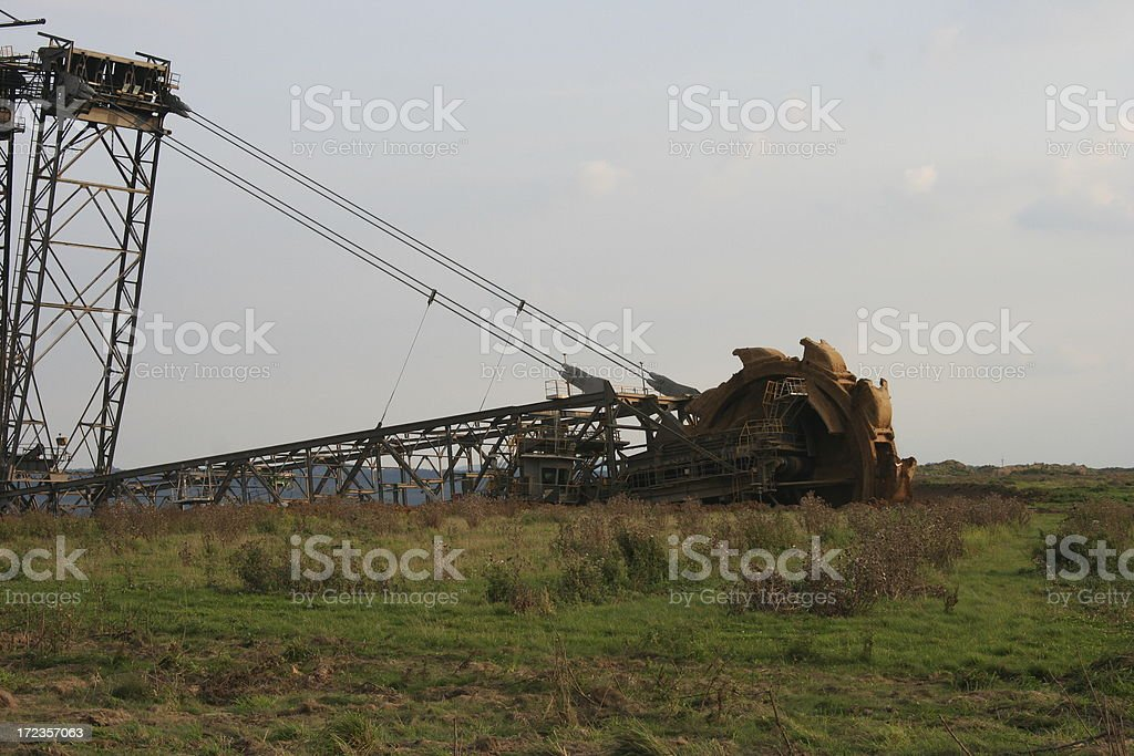 digging away the landscape royalty-free stock photo