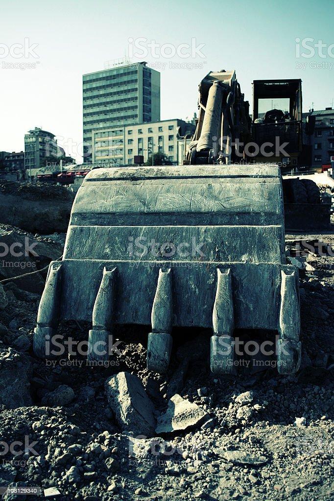 Digging excavator royalty-free stock photo