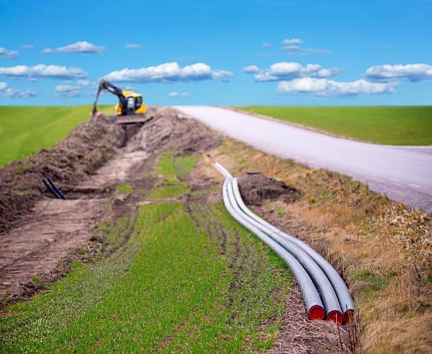 Graben für Breitband-Internetzugang – Foto