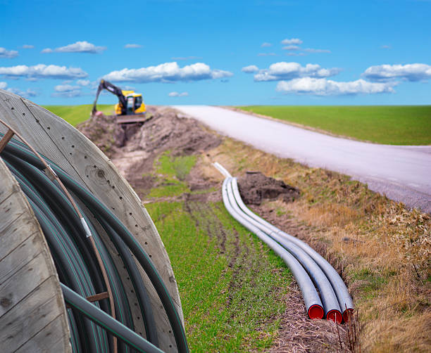 Digging for broadband stock photo