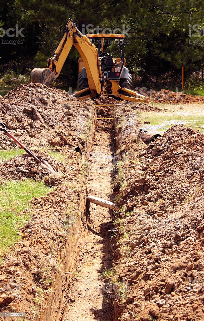 Digging the Ditch stock photo