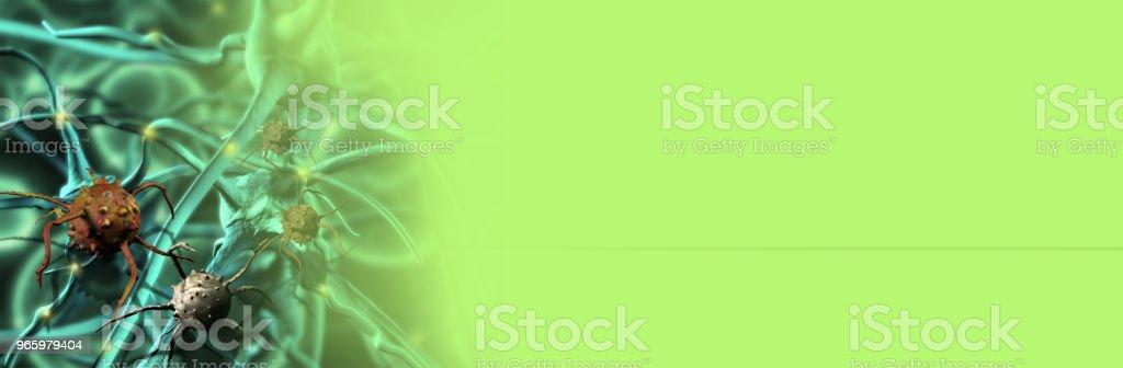 Digitale 3d illustratie van kankercellen in menselijk lichaam - Royalty-free Biologie Stockfoto