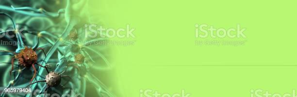 Digitale 3d Illustratie Van Kankercellen In Menselijk Lichaam Stockfoto en meer beelden van Biologie