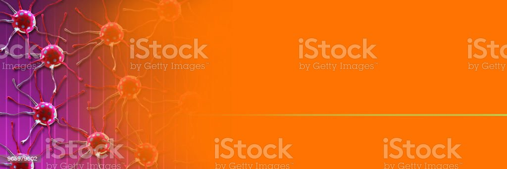 Digitale 3d Illustration von Krebszellen im Körper - Lizenzfrei Biologie Stock-Foto