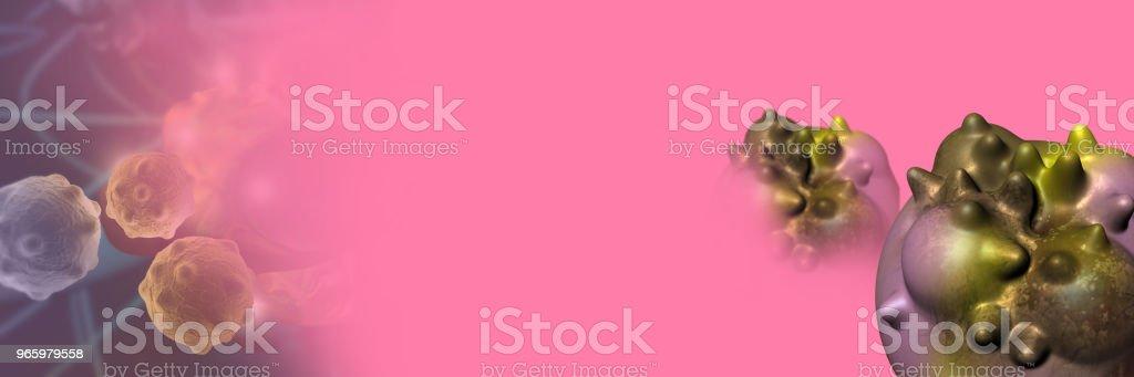 Digitale 3d Illustration von Krebszellen - Lizenzfrei Digital generiert Stock-Foto