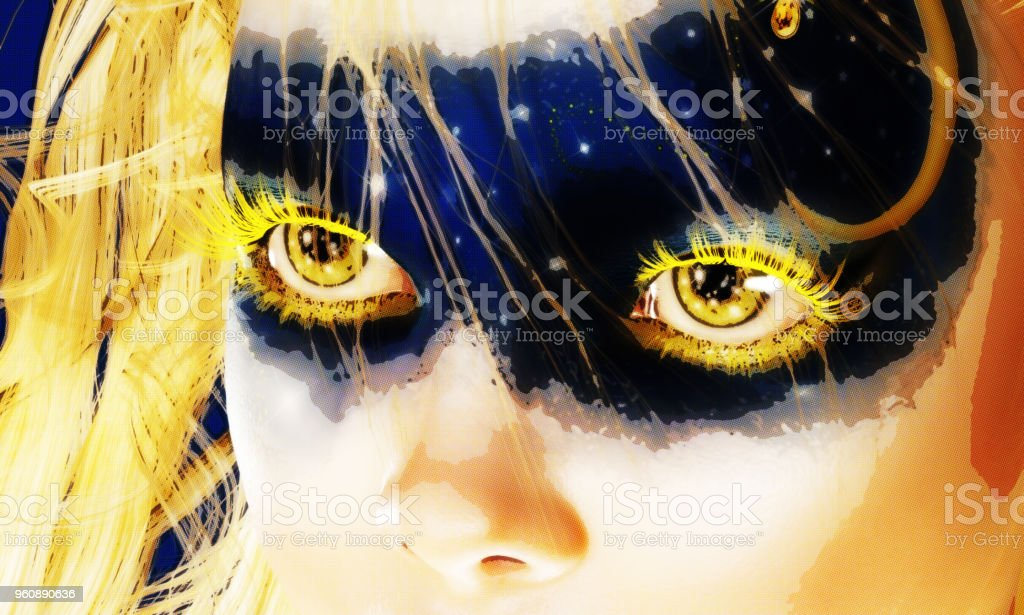 Digital 3D Illustration of Fairy Eyes – zdjęcie