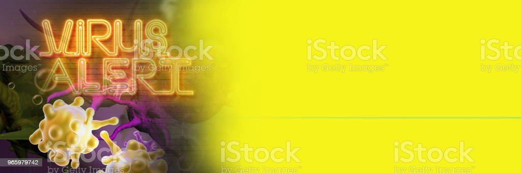 Digital 3d illustration of virus alert - Royalty-free Alertness Stock Photo