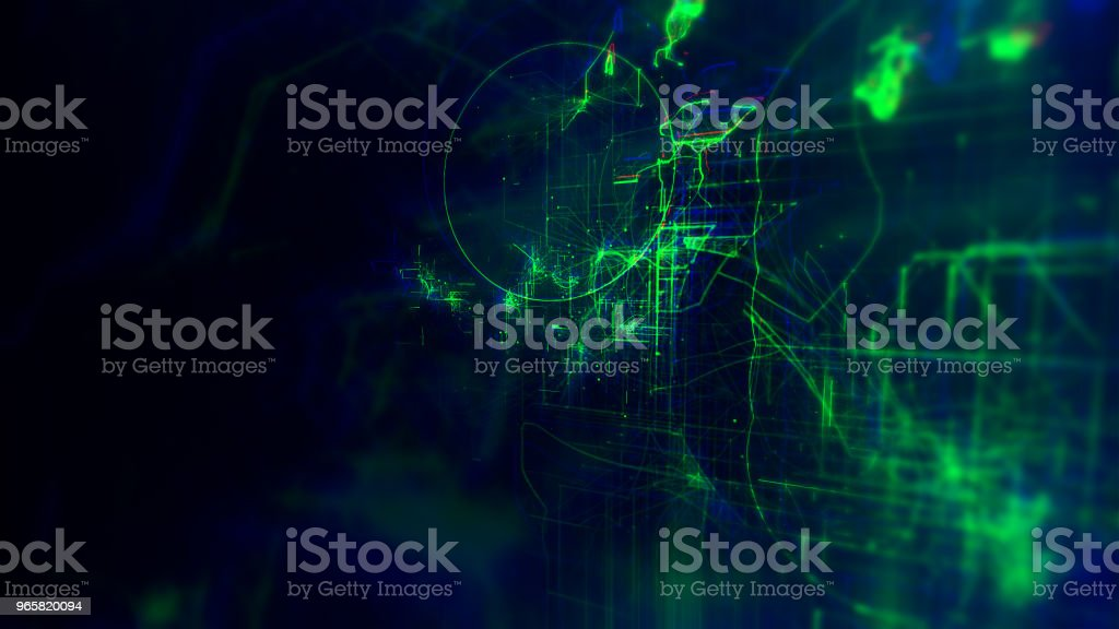 Digital Abstract Background, Cryptocurrency Concept - Royalty-free Big Data Stock Photo