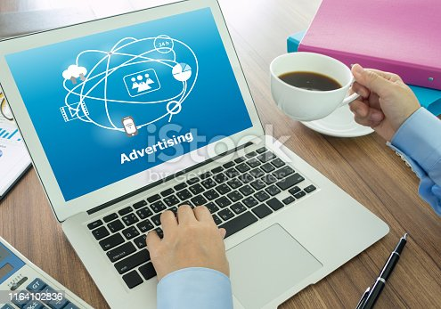 istock Digital advertising Technology 1164102836