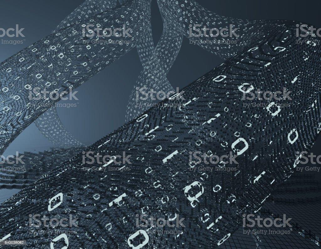 Digital age, network technology, future large data, data exchange stock photo