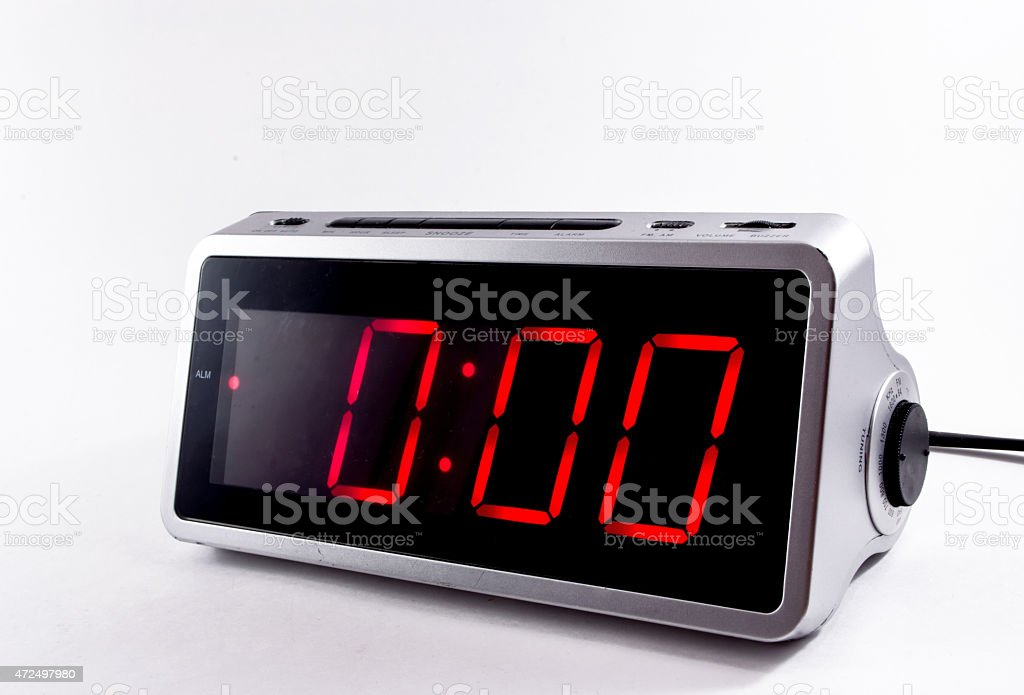 Digital Alarm Clock stock photo