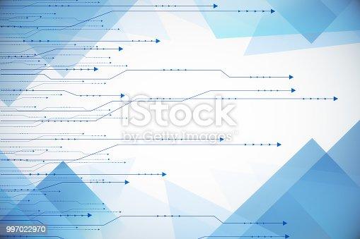 istock Digital arrows background 997022970