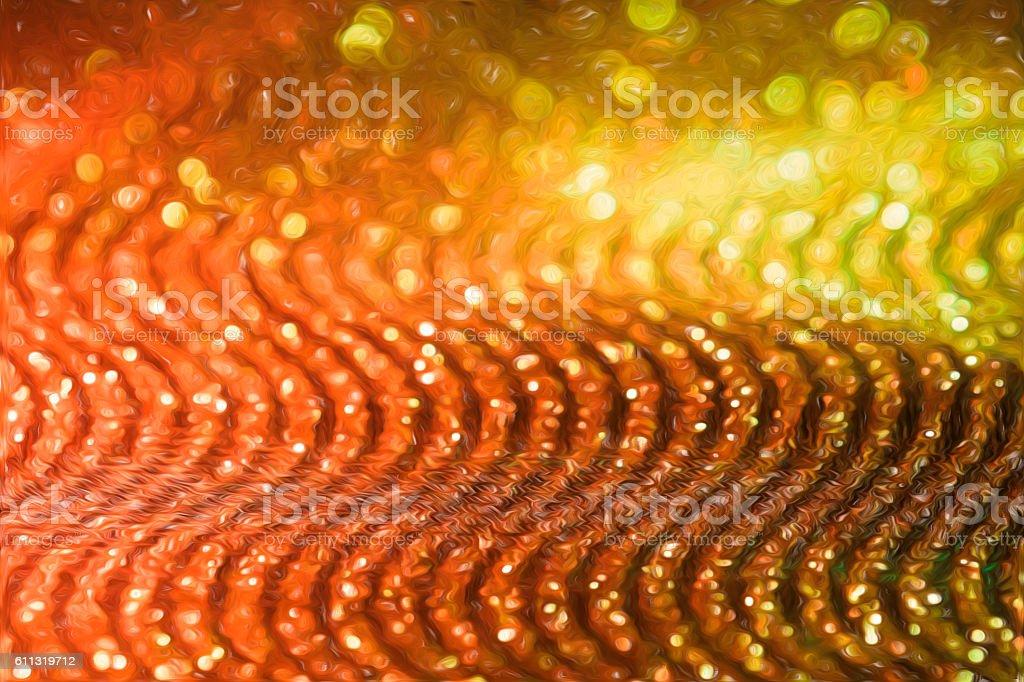 Digital Art Paint Effect Wallpaper Orange Glitter Background Royalty Free Stock Photo