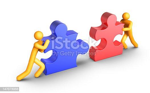 istock Digital art representing teamwork 147073033