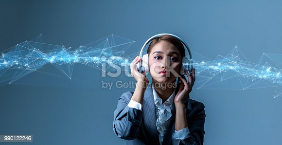 istock Digital audio device concept. 990122246