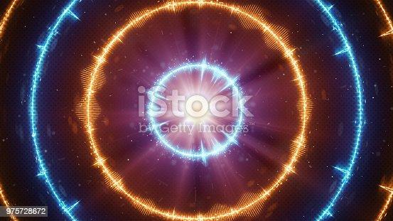 istock Digital audio equalizer concentric circles 975728672