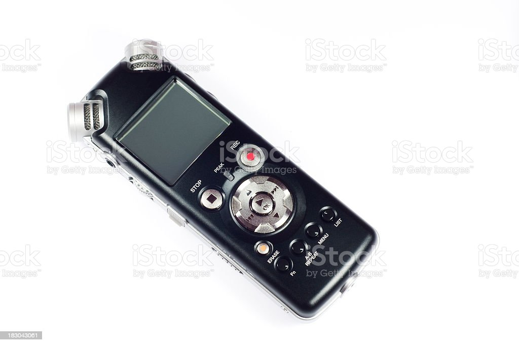 Digital Audio Recorder stock photo