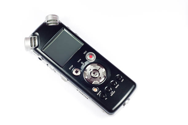digital audio recorder - dictaphone stock pictures, royalty-free photos & images