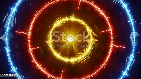 istock Digital audio wave concentric circles 1058292318