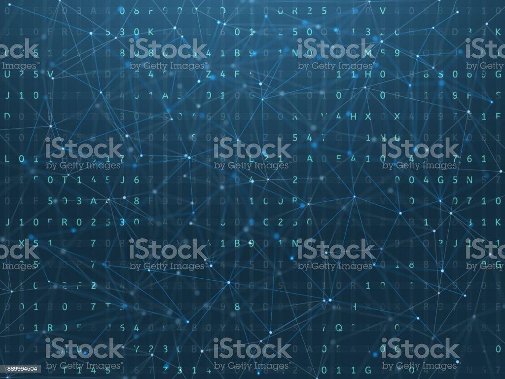 Fondo digital, concepto de blockchain. - foto de stock