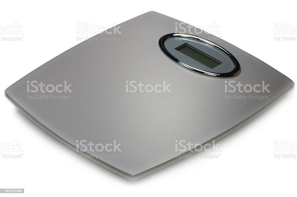 Digital báscula, gris plata mate, primer plano Macro de vidrio aislado - foto de stock