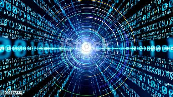 istock Digital binary code concept. 1029147330