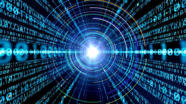 digital binär-code konzept. - target raumgestaltung stock-fotos und bilder