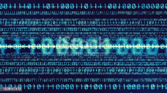 520592332istockphoto Digital binary code concept. 1029147412