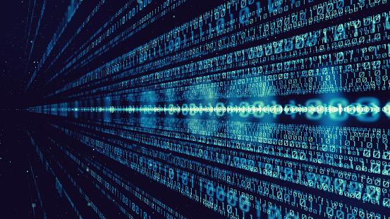 istock Digital binary code concept. 1029147426