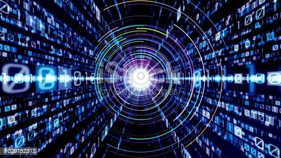 istock Digital binary code concept. 1029152312