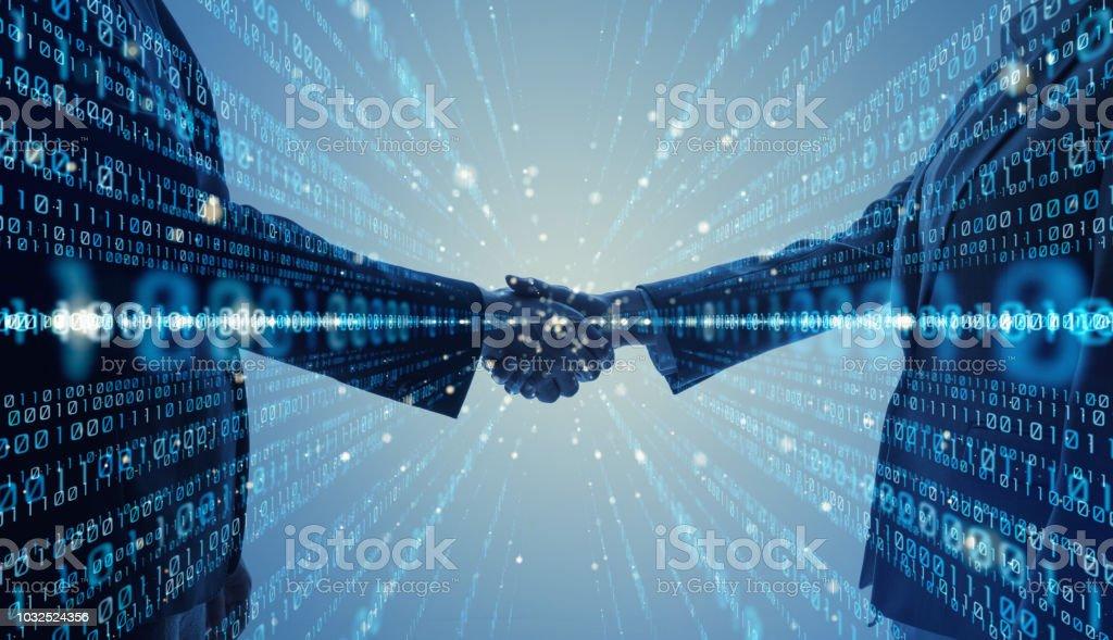 Digital binary code concept. stock photo