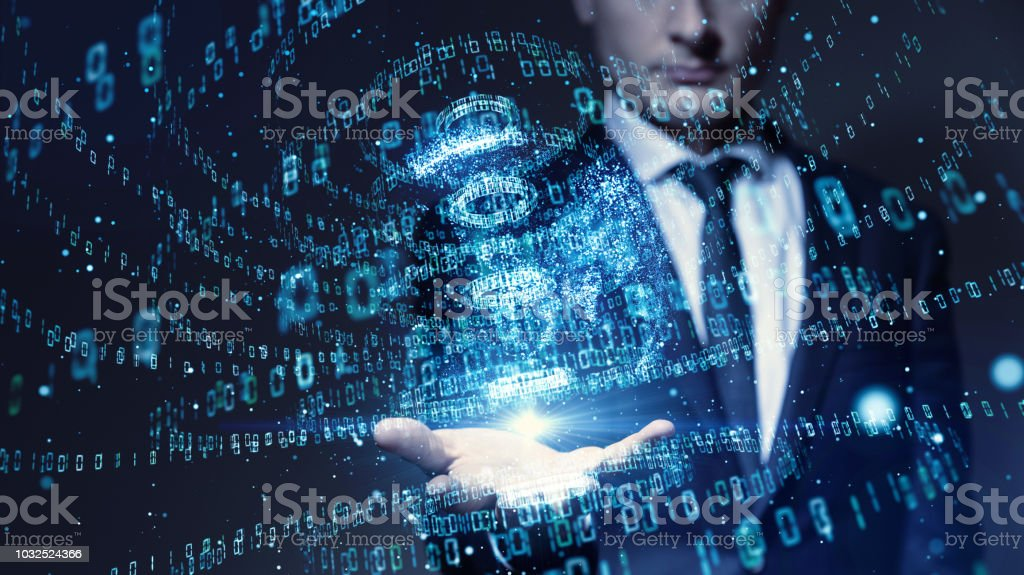 Digital binary code concept. Digital binary code concept. Abstract Stock Photo