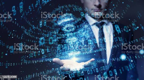 Digital Binary Code Concept Stock Photo - Download Image Now