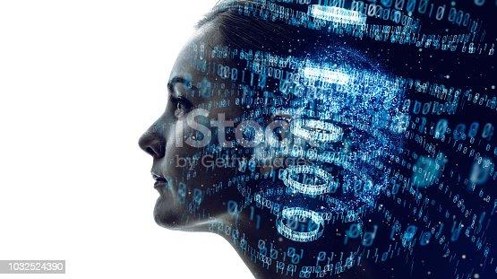 istock Digital binary code concept. 1032524390