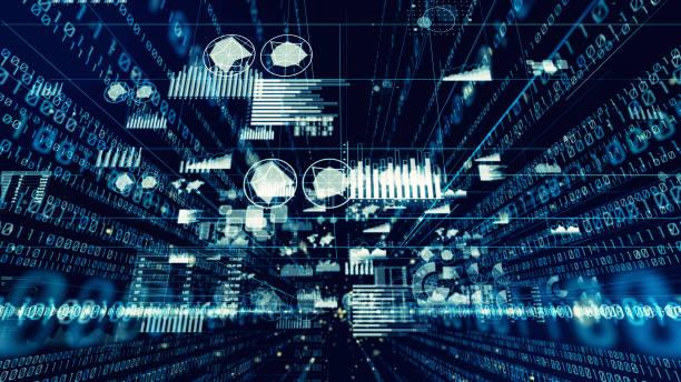 デジタルのバイナリ コードの概念。 - データ ストックフォトと画像