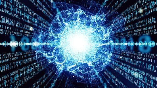 istock Digital binary code concept. 1032527976