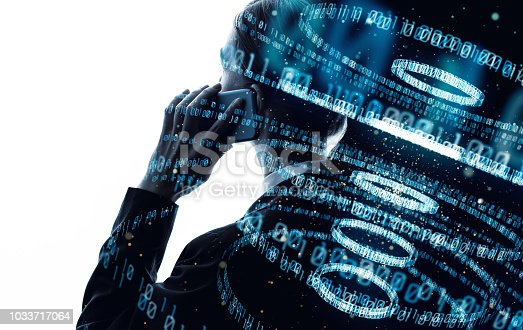istock Digital binary code concept. 1033717064