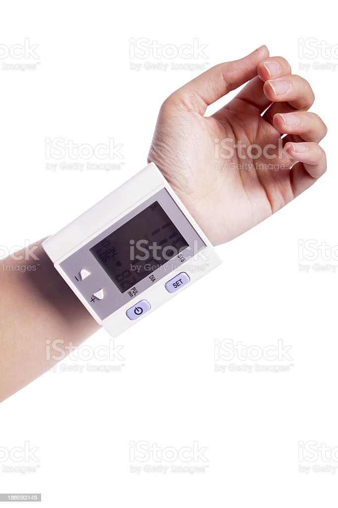 Digital Blood Pressure Equipment royalty-free stock photo